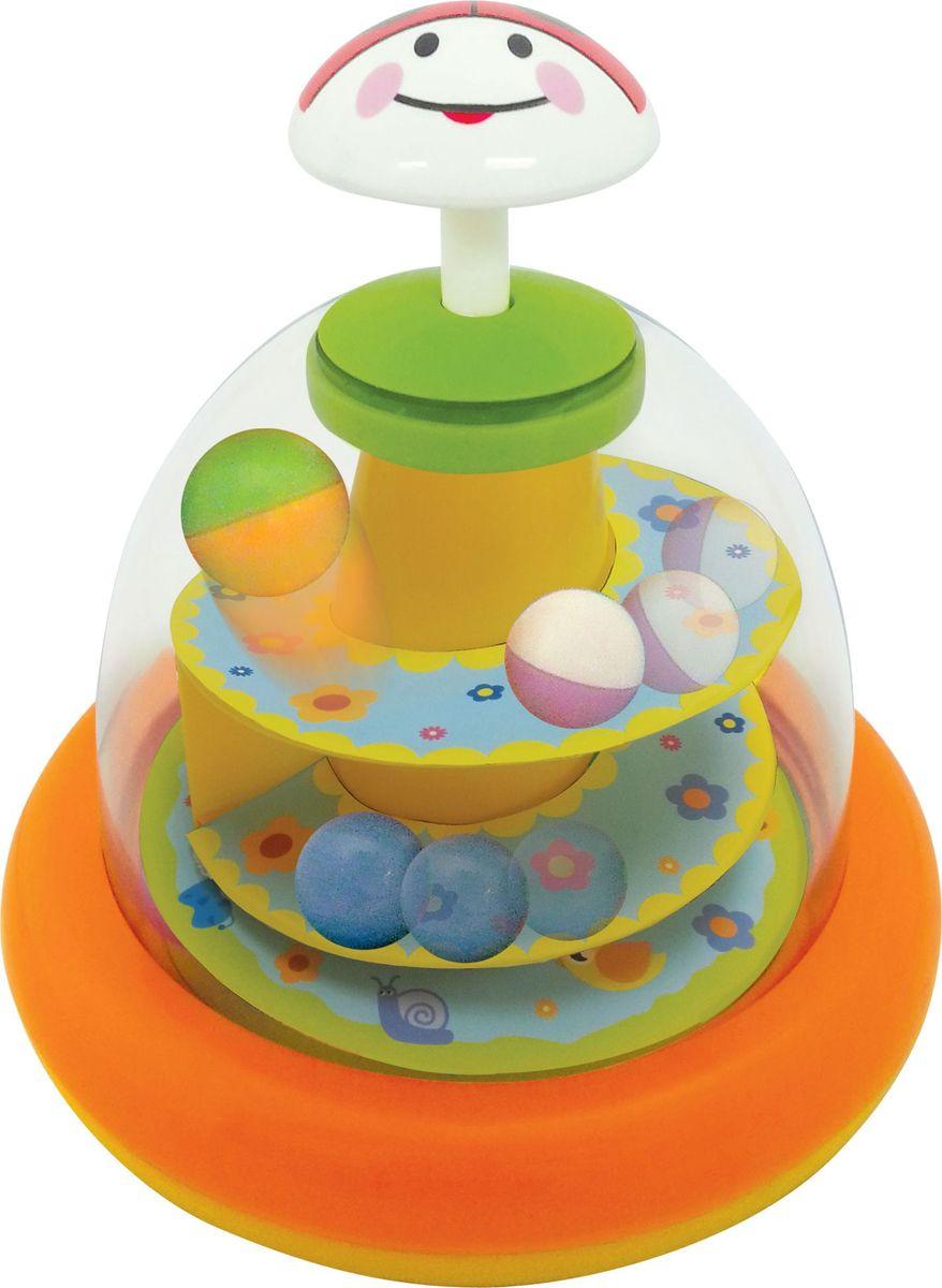 Kiddieland Развивающая игрушка Юла Божья коровка kiddieland развивающая игрушка забавная камера