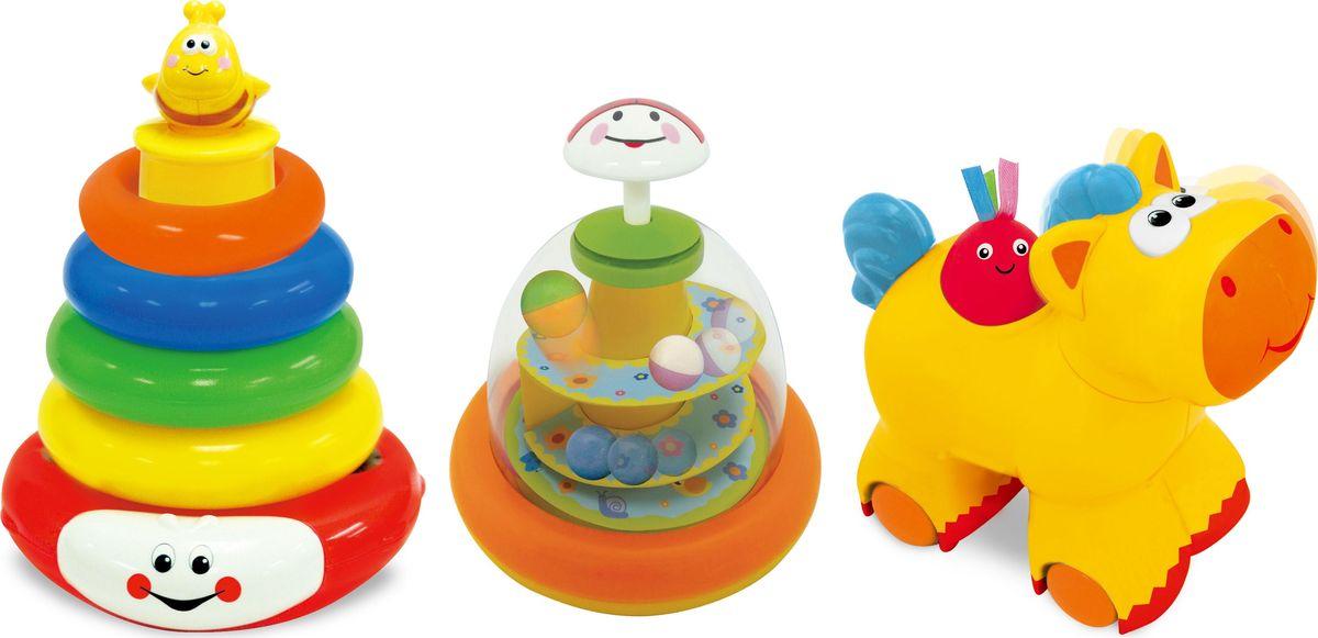Kiddieland Развивающий набор 3 игрушки куб развивающий kiddieland
