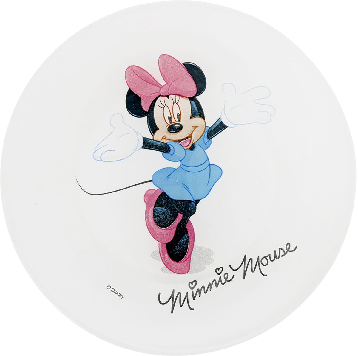 Тарелка десертная Luminarc Minnie Colors, диаметр 19,5 см115510Десертная тарелка Luminarc Minnie Colors, изготовленная из ударопрочного стекла, имеет приятный внешний вид. Такая тарелка обязательно понравится вашему ребенку. Идеальна для подачи десертов, пирожных, тортов и многого другого. Она прекрасно оформит стол и станет отличным дополнением к вашей коллекции кухонной посуды. Диаметр тарелки (по верхнему краю): 19,5 см. Высота тарелки: 1,5 см.