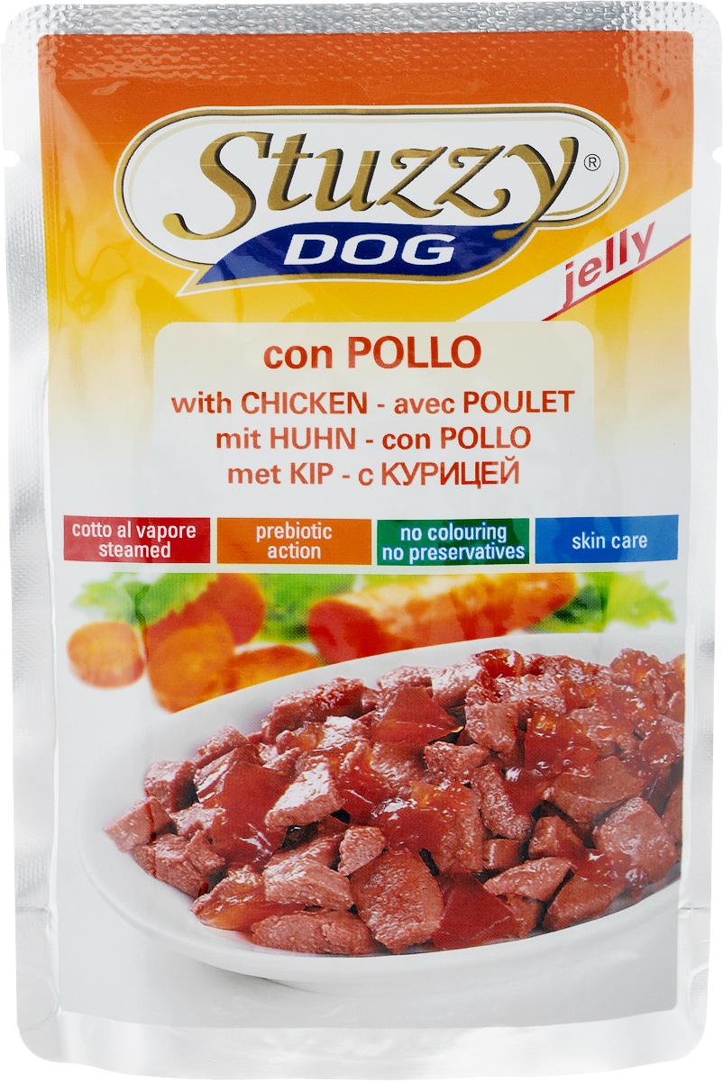Консервы для собак Stuzzy Dog, с курицей в желе, 100 г0120710Консервы для взрослых собак Stuzzy Dog - полнорационный продукт, который подходит для ежедневного кормления вашего животного.Консервы Stuzzy это аппетитные вкусы без усилителей, красителей и консервантов.Корм обогащен таурином и витамином Е для поддержания правильной работы сердца и иммунной системы. А также инулином, способствующим всасыванию питательных веществ, и биотином, делающим шерсть блестящей и шелковистой и поддерживающим здоровое состояние кожных покровов.Консервы имеют аппетитный вид, удивительный аромат и приятный вкус, который понравится питомцу! Товар сертифицирован.