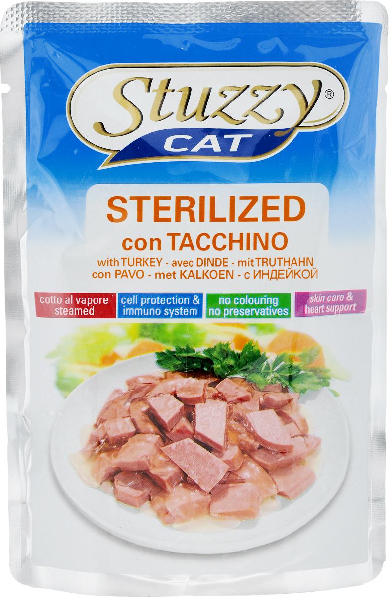 Консервы Stuzzy Cat. Sterilized, для стерилизованных кошек, с индейкой, 100 г130.011Консервы Stuzzy Cat. Sterilized - это корм для стерилизованных и кастрированныхкошек, который отличается естественностью. В консервах есть все, что нужно вашей кошке: питательные вещества, минералы, витамины.Консервы Stuzzy это аппетитные вкусы без усилителей, красителей и консервантов.Корм обогащен таурином и витамином Е для поддержания правильной работы сердца и иммунной системы. А также инулином, способствующим всасыванию питательных веществ и биотином, делающим шерсть блестящей и шелковистой и поддерживающим здоровое состояние кожных покровов.Консервы имеют аппетитный вид, удивительный аромат и приятный вкус, который понравится питомцу!Товар сертифицирован.