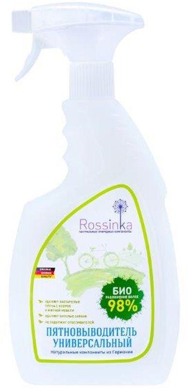 Пятновыводитель универсальный Rossinka, 750 мл531-402Предназначен для ковровых покрытий, обычных ковров, ковровых дорожек, тканевой мягкой мебели и автомобильных сидений. Не содержит осветляющих и отбеливающих веществ. Не оказывает воздействия на обычную прочность окраски текстильных покрытий. Устраняет затхлые запахи.