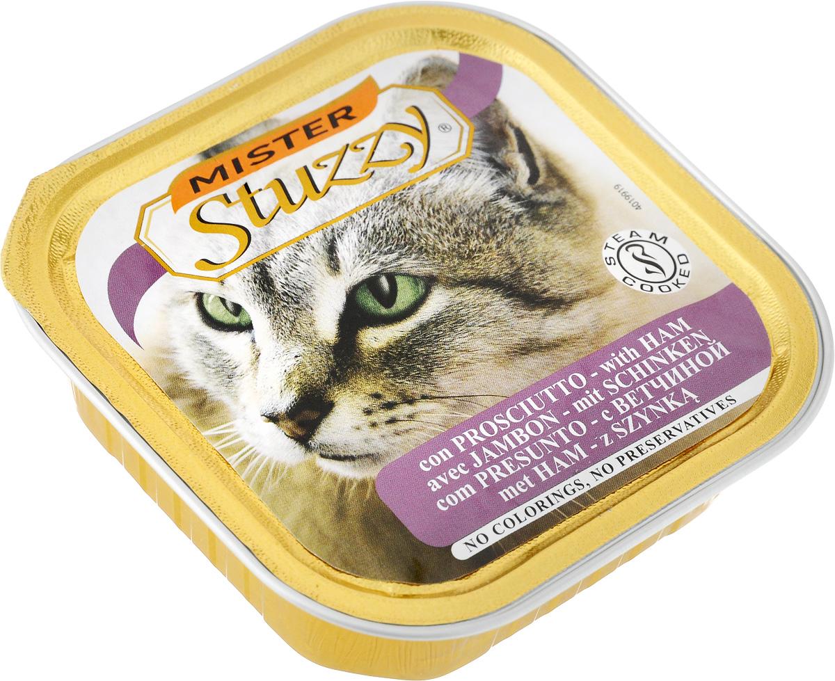 Консервы для кошек Stuzzy Mister, с ветчиной, 100 г0120710Stuzzy Mister - это полнорационный корм для взрослых кошек. Корм обогащен таурином и витамином Е для поддержания правильной работы сердца и иммунной системы. Инулин обеспечивает всасывание питательных веществ, а биотин способствуют великолепному внешнему виду кожи и шерсти. Корм приготовлен на пару, не содержит красителей и консервантов. Товар сертифицирован.