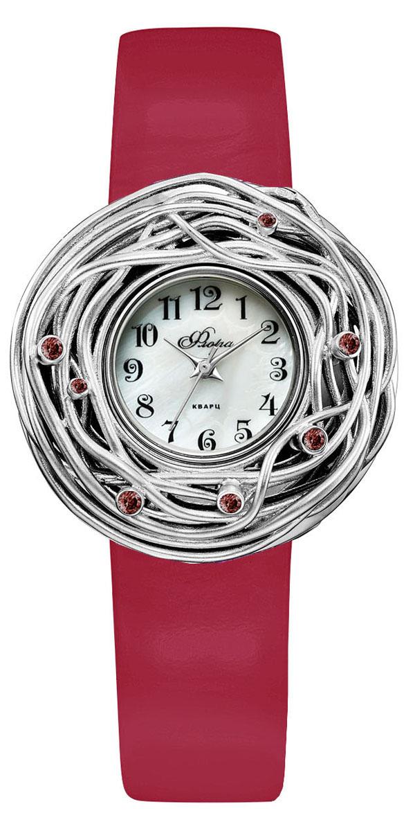 Часы наручные женские Mikhail Moskvin Весна, цвет: красный, серебристый. 1143S1-В6L2/3BM8434-58AEНежные женские часы Mikhail Moskvin с накладкой из художественного литья из серии Весна. Корпус модели представляет собой необычно красивое и изощренное часовое произведение. Изумительная накладка из серебра 925 пробы весом 7,76 грамма с яркой инкрустацией фианитами подарит летнее настроение даже в снежном январе. На перламутровом циферблате индексы-стразы органично сочетаются с изящными стрелками. В модели используется кварцевый высокоточный механизм производства Miyota Sitizen (Япония). Корпус, диаметром 36 мм, предлагается с ярким красным ремешком и надежной пряжкой.
