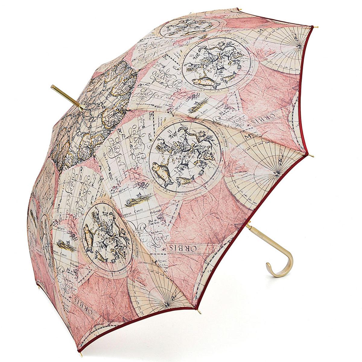 Зонт-трость женский Stilla, цвет: светло-розовый, бежевый, черный. 680/1 auto191I-1714Зонт-трость Stilla надежно защитит вас от дождя. Купол, оформленный оригинальным принтом, выполнен из высококачественного ПВХ, который не пропускает воду.Каркас зонта и спицы выполнены из высококарбонистой стали. Зонт имеет автоматический тип сложения: открывается и закрывается при нажатии на кнопку. Удобная ручка выполнена из пластика.