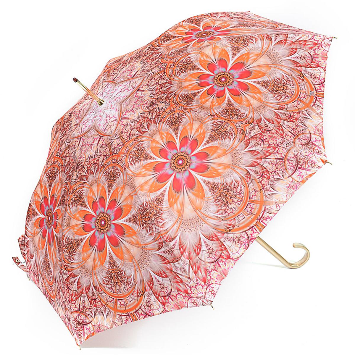 Зонт-трость женский Stilla, цвет: красный, оранжевый, белый. 722/4 autoКолье (короткие одноярусные бусы)Зонт-трость Stilla надежно защитит вас от дождя. Купол, оформленный оригинальным принтом, выполнен из высококачественного ПВХ, который не пропускает воду.Каркас зонта и спицы выполнены из высококарбонистой стали. Зонт имеет автоматический тип сложения: открывается и закрывается при нажатии на кнопку. Удобная ручка выполнена из пластика.