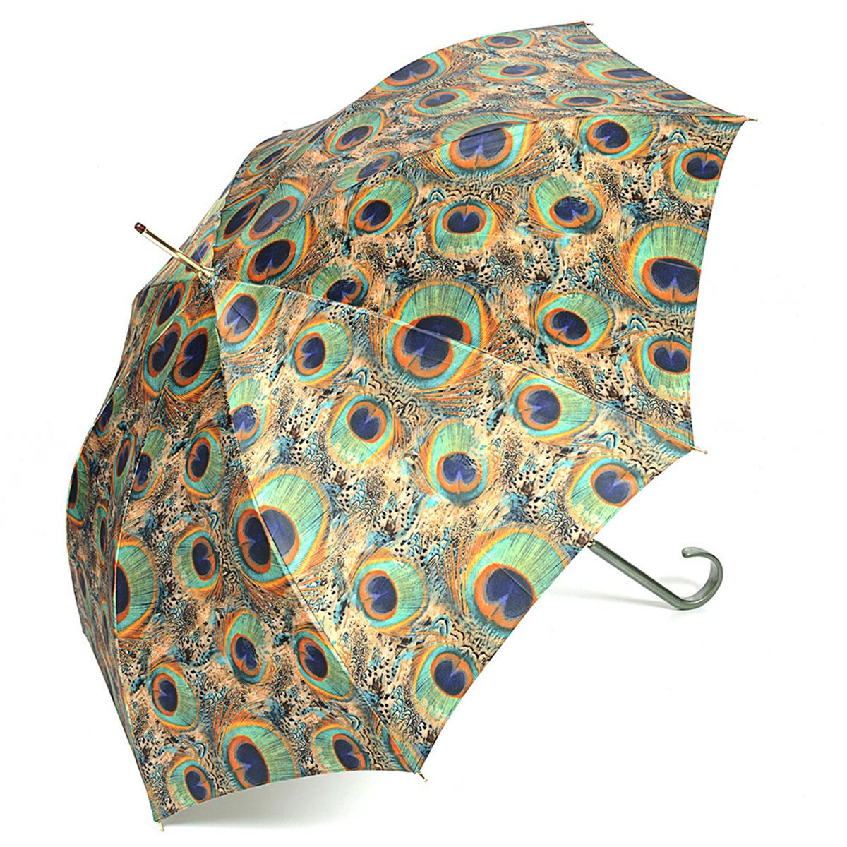 Зонт-трость женский Stilla, цвет: песочный, бирюзовый. 726/1 auto191I-1714Зонт-трость Stilla надежно защитит вас от дождя. Купол, оформленный оригинальным принтом, выполнен из высококачественного ПВХ, который не пропускает воду.Каркас зонта и спицы выполнены из высококарбонистой стали. Зонт имеет автоматический тип сложения: открывается и закрывается при нажатии на кнопку. Удобная ручка выполнена из пластика.