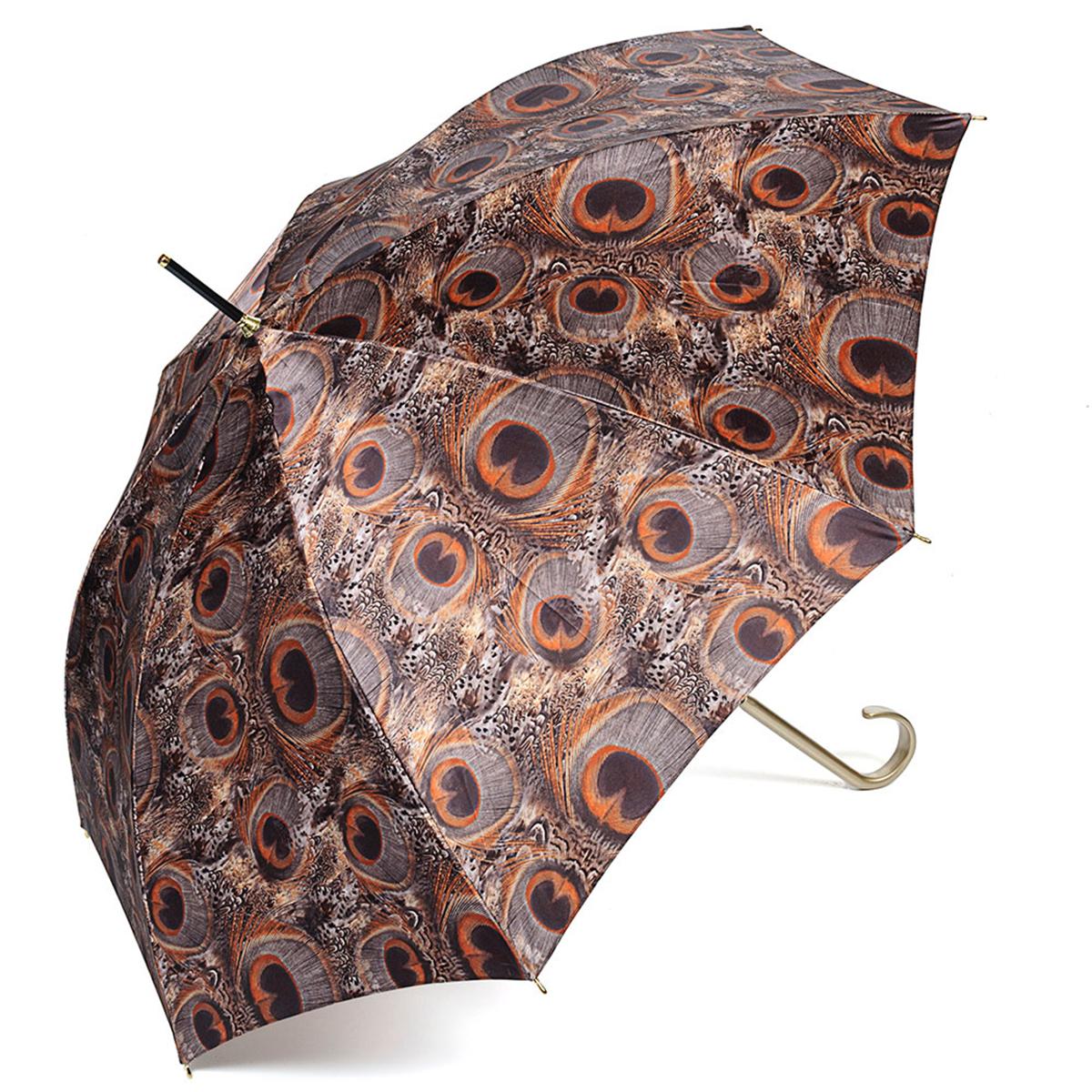 Зонт-трость женский Stilla, цвет: коричневый. 726/2 autoКолье (короткие одноярусные бусы)Зонт-трость Stilla надежно защитит вас от дождя. Купол, оформленный оригинальным принтом, выполнен из высококачественного ПВХ, который не пропускает воду.Каркас зонта и спицы выполнены из высококарбонистой стали. Зонт имеет автоматический тип сложения: открывается и закрывается при нажатии на кнопку. Удобная ручка выполнена из пластика.