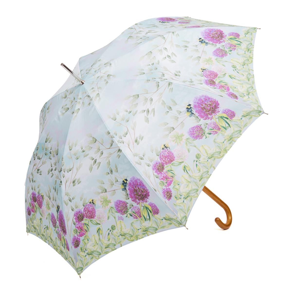 Зонт-трость женский Stilla, цвет: голубой, зеленый, пурпурный. 757/1 autoK50K502473_0010Зонт-трость Stilla надежно защитит вас от дождя. Купол, оформленный оригинальным принтом, выполнен из высококачественного ПВХ, который не пропускает воду.Каркас зонта и спицы выполнены из высококарбонистой стали. Зонт имеет автоматический тип сложения: открывается и закрывается при нажатии на кнопку. Удобная ручка выполнена из пластика.