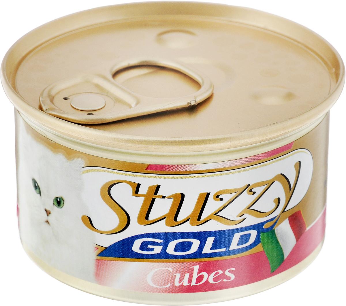 Консервы для взрослых кошек Stuzzy Gold, с курицей, 85 г131.С4201Консервы для кошек Stuzzy Gold - это дополнительный рацион для взрослых кошек. Корм обогащен таурином и витамином Е для поддержания правильной работы сердца и иммунной системы. Инулин обеспечивает всасывание питательных веществ, а биотин способствуют великолепному внешнему виду кожи и шерсти. Корм приготовлен на пару, не содержит красителей и консервантов. Состав: мясо и мясные субпродукты 55% (из них курица 23%).Питательная ценность: белок 9%, жир 5,5%, клетчатка 0,1%, зола 2%, влажность 80%.Питательные добавки (на кг): витамин А 1177 МЕ, витамин D3 700 МЕ, витамин Е 40 мг,таурин 300 мг, железо 63,14 мг, цинк 40,8 мг, медь 2,32 мг, марганец 3,25 мг, селен 0,155 мг, йод 0,76 мг.Товар сертифицирован.