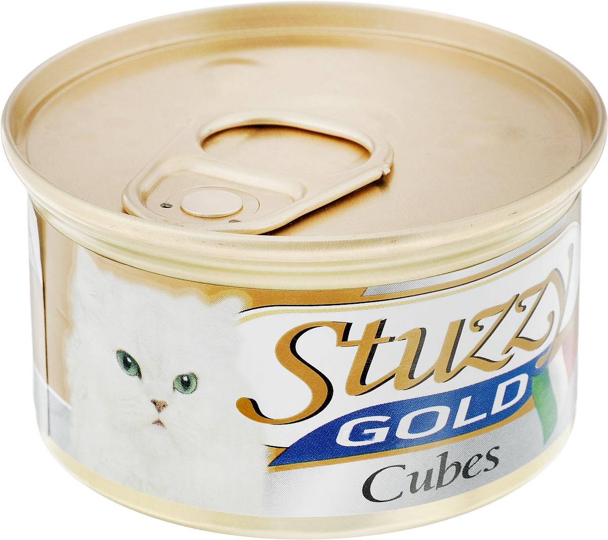 Консервы для взрослых кошек Stuzzy Gold, индейка, 85 г. 132.C435130.4.044Консервы для кошек Stuzzy Gold - это дополнительный рацион для взрослых кошек. Корм обогащен таурином и витамином Е для поддержания правильной работы сердца и иммунной системы. Инулин обеспечивает всасывание питательных веществ, а биотин способствуют великолепному внешнему виду кожи и шерсти. Корм приготовлен на пару, не содержит красителей и консервантов. Состав: мясо и мясные субпродукты 45% (из них индейка 13%).Питательная ценность: белок 9%, жир 5,5%, клетчатка 0,1%, зола 2%, влажность 80%. Питательные добавки (на кг): витамин А 1177 МЕ, витамин D3 700 МЕ, витамин Е 40 мг, таурин 300 мг, железо 63,14 мг, цинк 40,8 мг, медь 2,32 мг, марганец 3,25 мг, селен 0,155 мг, йод 0,76 мг. Товар сертифицирован.