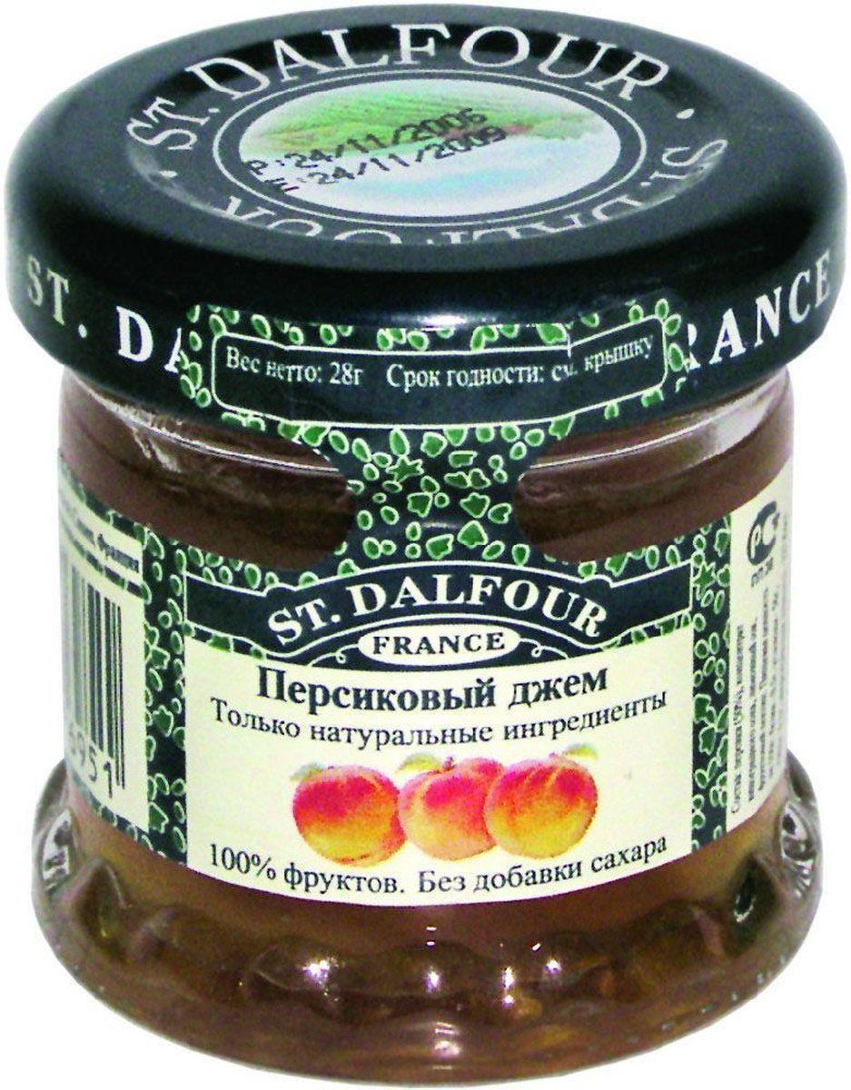 St.Dalfour Джем Персик, 28 г0120710Без добавления сахара, консервантов, искусственных ароматизаторов и красителей. Содержит только натуральные ингредиенты.