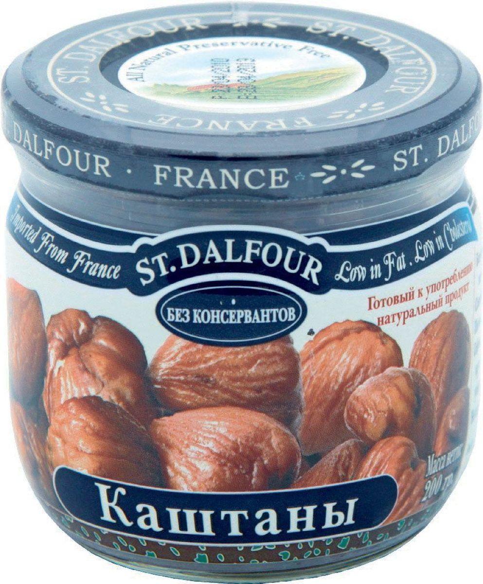 St.Dalfour Каштаны консервированные, 200 г1150011Полностью натуральный продукт. Отсортированный вручную, чистый, готовый к употреблению продукт.