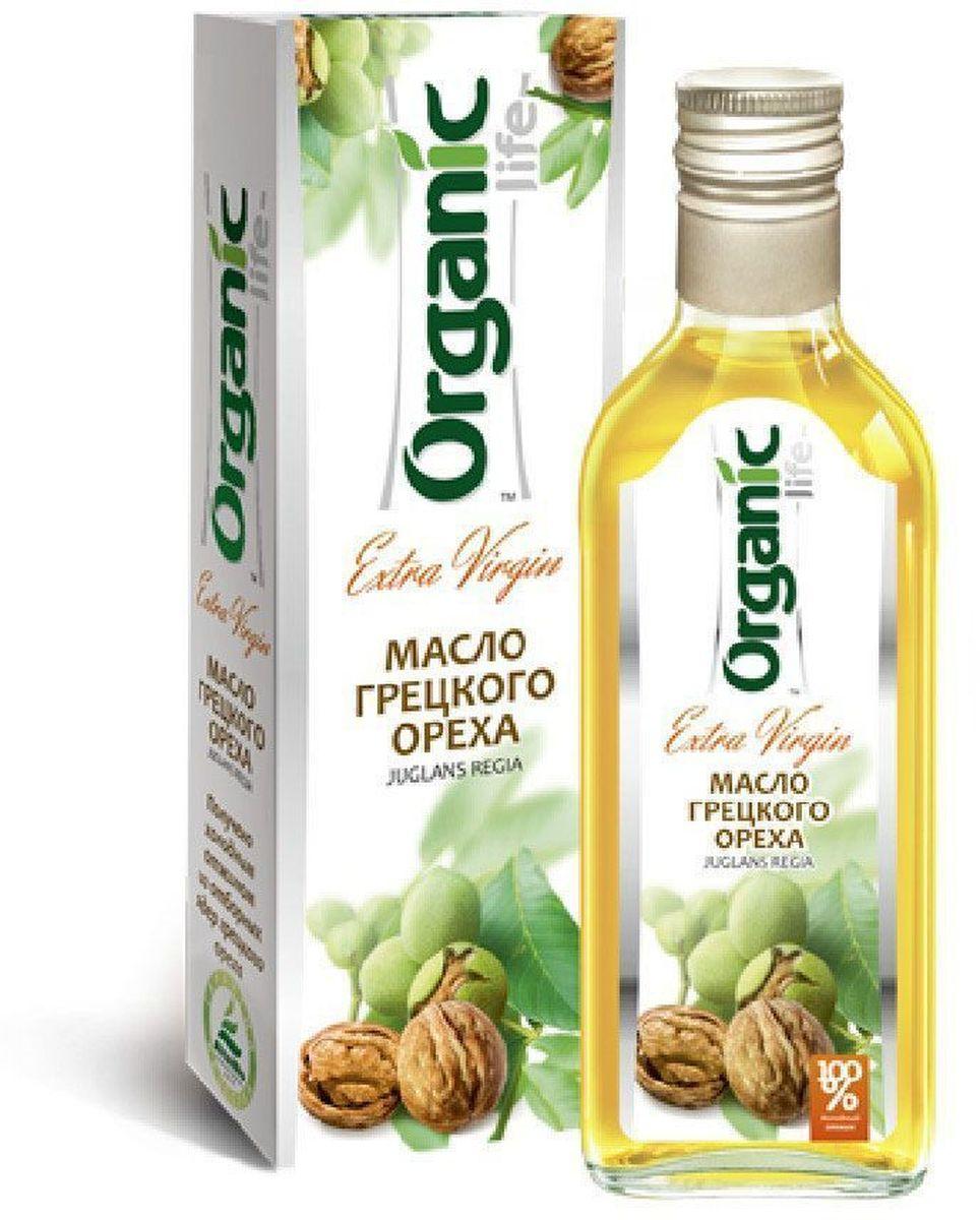 Organic Life масло грецкого ореха, 250 мл0120710Масло грецкого ореха имеет красивый янтарный оттенок, оригинальный вкус и насыщенный ореховый аромат.