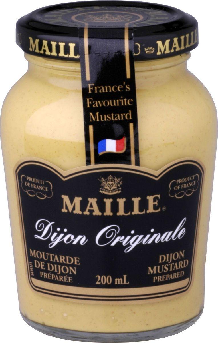 Maille Дижонская горчица, 200 мл10.43.62Традиционная Дижонская горчица, созданная по старинному французскому рецепту. Производитель находится непосредственно в г. Дижоне. Подходит для мясных и блюд из птицы.