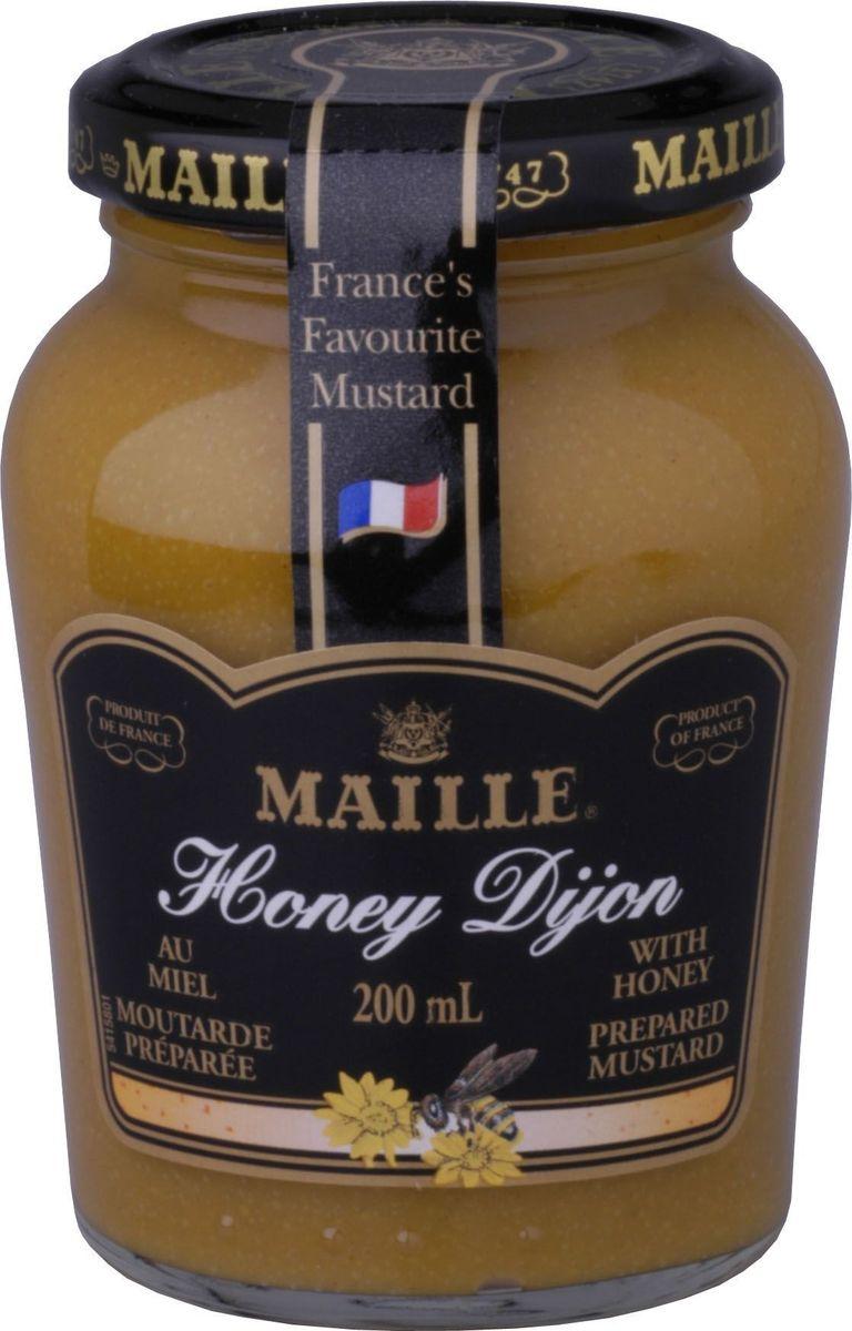 Maille Горчица с медом, 200 мл0120710Традиционная горчица с добавлением меда, созданная по старинному французскому рецепту, имеет пикантный вкус. Подходит для блюд из свинины.