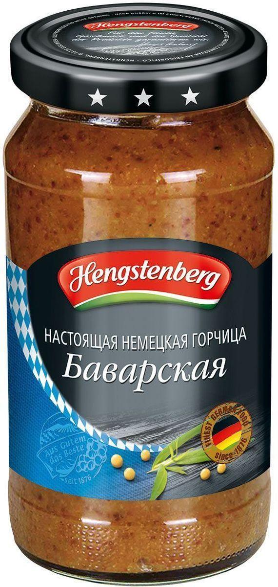 Hengstenberg По-баварски сладкая горчица, 200 мл0120710Традиционная немецкая горчица, гармоничная смесь семян горчицы, уксуса и пряностей используется для любых блюд, включая мясо на гриле, холодные закуски и фондю.