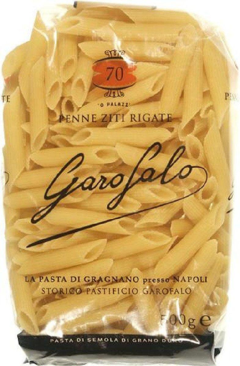 Garofalo Пенне Зити Ригате перья рифленые № 70, 500 г259505Название этого вида пасты происходит от итальянского слова Penne rigate — рифленое перо. Один из самых популярных на сегодняшний день видов итальянской пасты. Подаются в супах, запеченными, с любыми соусами.