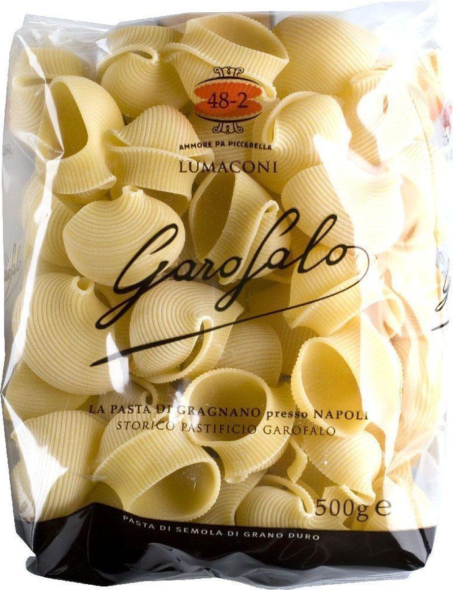 Garofalo Лумакони большие рифленые улитки № 482, 500 г0120710Большие рифленые улитки идеальны для фаршировки, например, сыром риккота с зеленью или мясным фаршем.