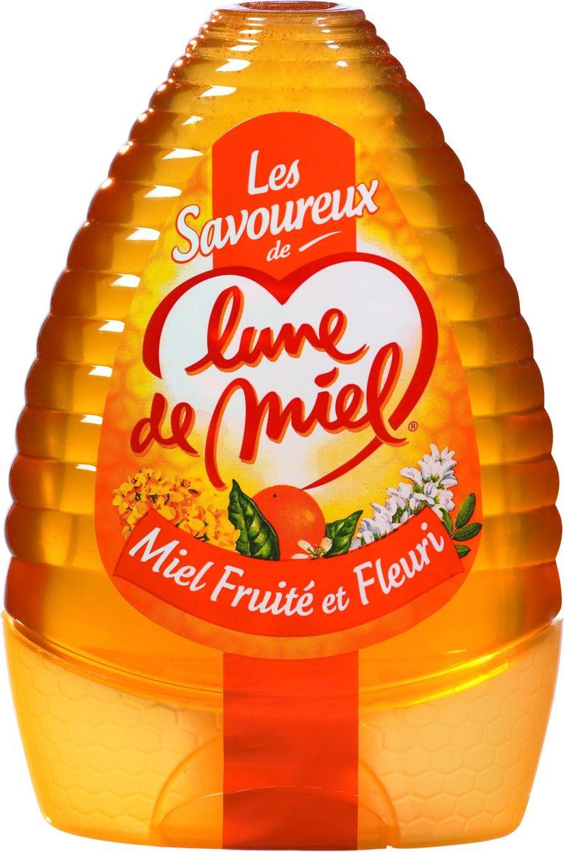 Lune de Miel Цветочный фруктовый мед, диспенсер с дозатором, 340 г0120710Цветочный фруктовый мед сочетает тонкий аромат цвета акации и апельсинового цвета. Выпускается в упаковках TopDown с дозатором, который позволяет выдавливать мед четкими дозами.