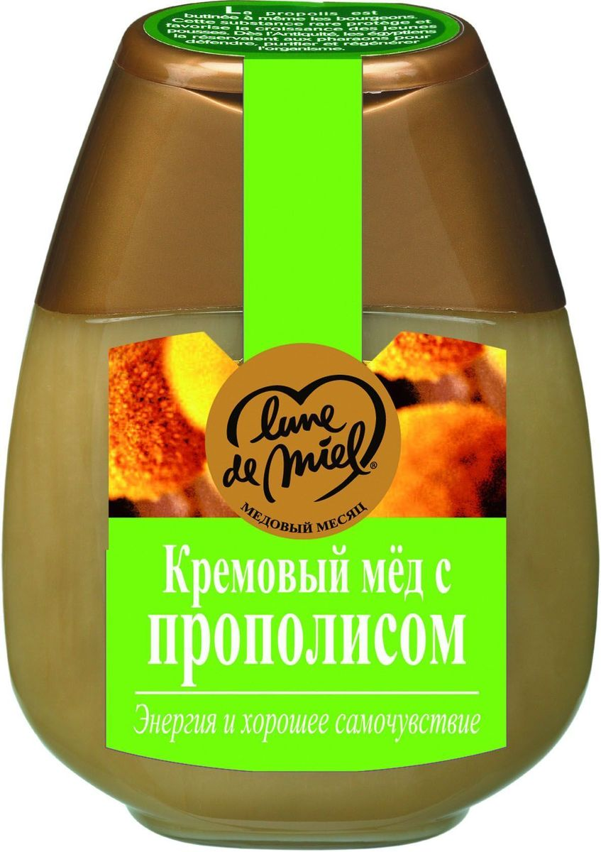 Lune de Miel Кремовый мед с зеленым прополисом, диспенсер, 250 г4627123647606Линия Лечебный мед. Мед с зеленым прополисом применяется не только для лечения, но и в большей степени для профилактики различных заболеваний.