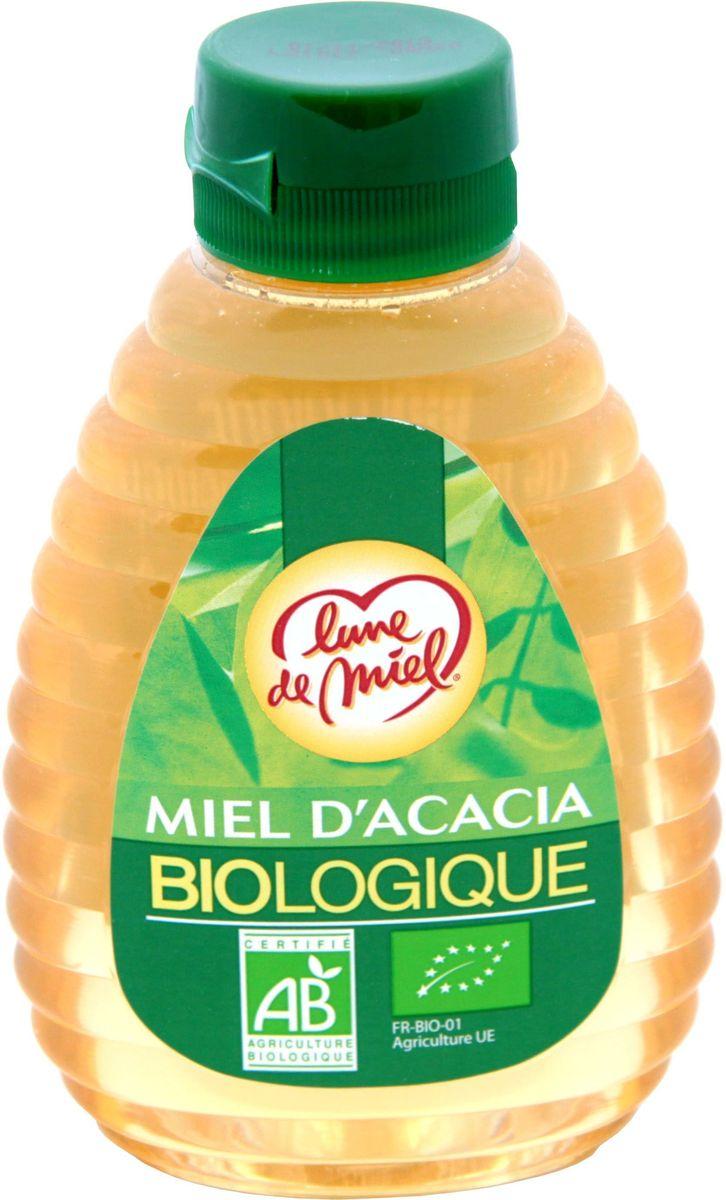 Lune de Miel Мед из акации BIO, диспенсер с дозатором, 250 г0120710Мед из акации BIO приготовлен по уникальной биотехнологии, которая позволяет сохранять и активизировать все полезные свойства меда. Отличается прекрасными вкусовыми качествами, высокотонизирующим действием и большим количеством витаминов.
