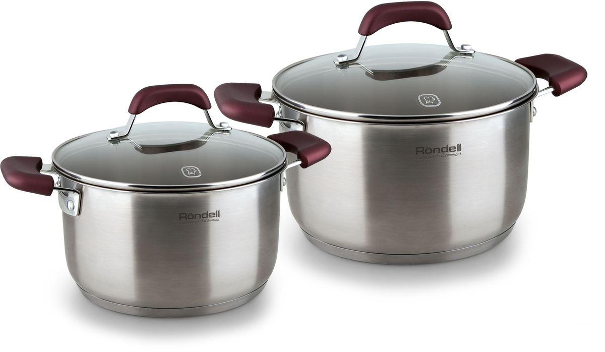 Набор посуды Rondell Bojole, 4 предмета. RDS-82254 009312Набор 4 предмета (кастрюли 20 см, (3,3 л), 24 см, (5,6 л)) Bojole