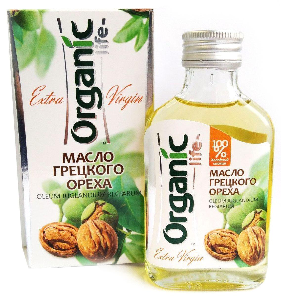 Organic Life масло грецкого ореха, 100 мл0120710Масло грецкого ореха содержит витамины: Е, В1, В6, биотин, микроэлементы, жирные кислоты, фосфолипиды, коэнзим Q10 (вещество, обладающее антиоксидантным действием, активизирующее обмен веществ в клетках). Масло грецкого ореха благотворно влияет на работу нервной и эндокринной системы, увеличивают умственную работоспособность, нормализуют сон и снимают усталость. Отличительная особенность масла грецкого ореха – сбалансированный комплекс полиненасыщенных жирных кислот Омега-6 и Омега-3 (витамин Р), их соотношение является оптимальным - 5:1. Грецкое масло обладает нежным вкусом и ароматом, подходит для любых блюд, в том числе фруктовых салатов. Способ применения: по 1 ч.л. 2-3 раза в день. Чайная ложка масла, выпитая на голодный желудок после стакана воды, помогает наладить пищеварение.