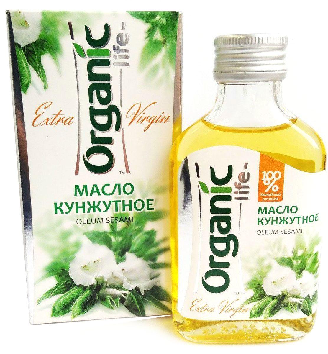 Organic Life масло кунжутное, 100 мл0120710Кунжутное масло – продукт здорового питания с идеальным балансом жирных кислот – олеиновой и линолевой, – что способствует снижению уровня холестерина и поддержанию защитных сил организма. Уникальная особенность кунжутного масла - наличие сезамола, природного антиоксиданта, который поддерживает молодость клеток, участвует в кислородном обмене и укрепляет иммунитет. Сезамол способствует защите от вредного воздействия ультрафиолета, если нанести масло кунжута на кожу во время солнечных ванн. Гармоничное сочетание полезных компонентов в составе масла кунжута благотворно влияет на состояние сердечно сосудистой системы. В кулинарии масло кунжута используется для заправки салатов и готовых блюд, придавая им оригинальный вкус и неповторимый аромат. Способ применения: по 1 ч.л. 2-3 раза 8 дней.
