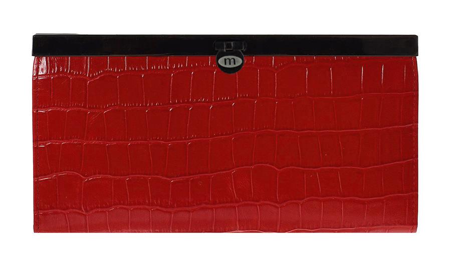 Кошелек Malgrado, цвет: красный. 73003-43702#INT-06501Стильный кошелек Malgrado выполнен из лаковой натуральной кожи красного цвета с декоративным тиснением под крокодила. Внутри содержит два горизонтальных кармана из кожи для бумаг, четыре кармашка для кредитных карт, два кармашка со вставками из прозрачного пластика, отделение на молнии для мелочи и четыре отделения для купюр. Кошелек упакован в подарочную металлическую коробку с логотипом фирмы. Такой кошелек станет замечательным подарком человеку, ценящему качественные и практичные вещи. Характеристики:Материал: натуральная кожа, текстиль, металл. Размер кошелька: 19 см х 10 см х 2 см. Цвет: красный.Размер упаковки: 23 см х 13 см х 4,5 см. Артикул: 73003-19902.