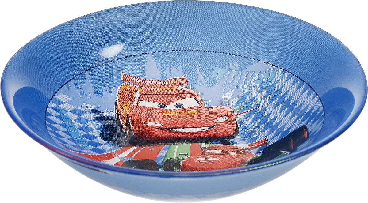 Миска Luminarc Disney Cars 2, диаметр 16,5 см. L213054 009312Миска Luminarc Disney Cars 2 выполнена из высококачественного стекла. Она прекрасно впишется в интерьер вашей кухни и станет достойным дополнением к кухонному инвентарю.Миска Luminarc Disney Cars 2 отлично подойдет для вашего ребенка. Диаметр миски (по верхнему краю): 16,5 см. Высота стенки: 4,5 см.