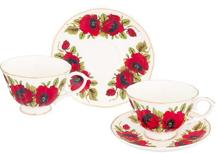 Набор чайный Elan Gallery Маки, 12 предметовVT-1520(SR)Чайный набор на 6 персон украсит Ваше чаепитие. В комплекте 6 чашек на ножке объемом 250 мл, 6 блюдец. Изделие имеет подарочную упаковку, поэтому станет желанным подарком для Ваших близких!
