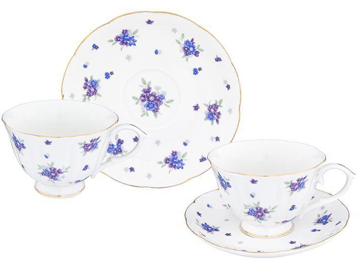Набор чайный Elan Gallery Сиреневый туман, 12 предметовVT-1520(SR)Чайный набор нежных тонах на 6 персон украсит Ваше чаепитие. В комплекте 6 чашек на ножке объемом 250 мл, 6 блюдец. Изделие имеет подарочную упаковку, поэтому станет желанным подарком для Ваших близких!