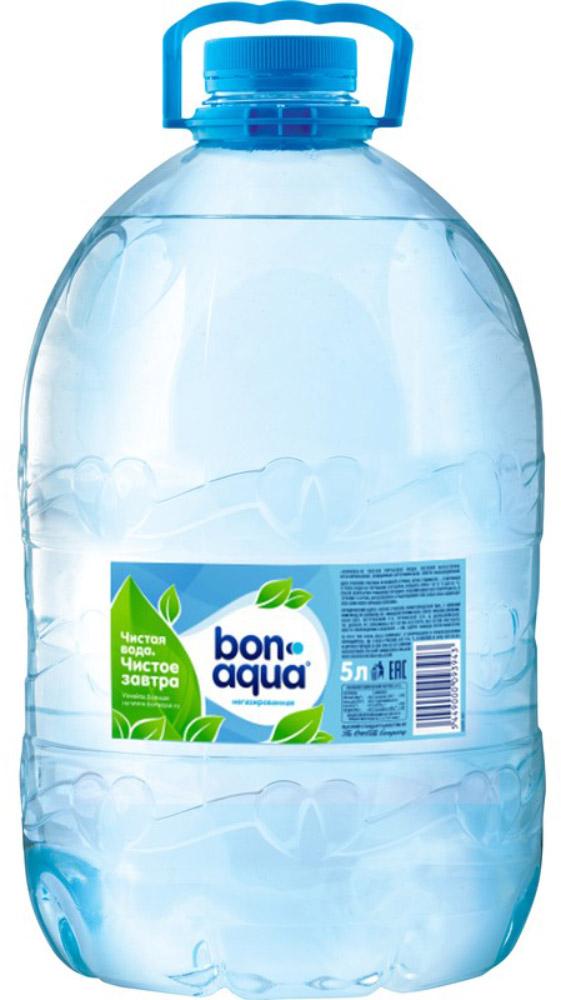 BonAqua Вода чистая питьевая негазированная, 5 л вода жемчужина байкала 0 5 л спорт негазированная упаковка 12 шт