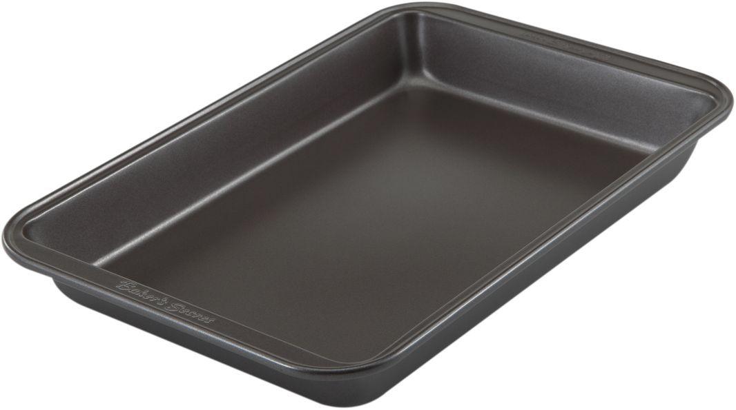 Форма для выпечки Bakers Secret Essentials, 18 х 28 см, цвет: темно-серый. 111444154 009312Коллекция форм для выпечки тортов Bakers Secret из США являются хорошим приобретением любой хозяйки. Данные товары пользуются спросом, поскольку их отличает высокое качество. Формы для запекания Bakers Secret - выполнены из высококачественной стали. Внешнее антипригарное покрытие для удобства ухода и утолщенные стенки гарантируют равномерное пропекание изделия. Стальные формы для запекания стали популярными намного позже чугунных и керамических, и главное их преимущество – это абсолютная химическая нейтральность. Качественная нержавеющая сталь никак не скажется на вкусе готовой пищи и не будет подвержена воздействию кислот и щелочей, содержащихся в моющих средствах. Можно мыть в посудомоечной машине.
