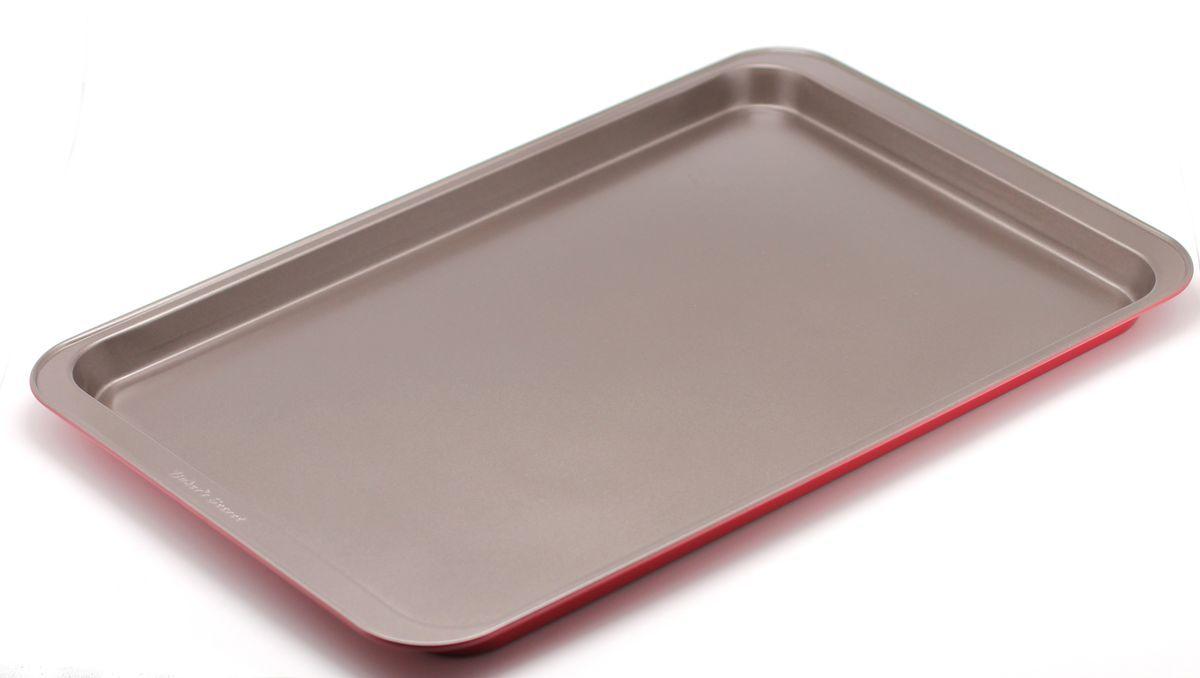 Форма для выпечки печенья Bakers Secret Colors. Red Velvet, цвет: красный. 112321854 009312Коллекция форм для выпечки тортов Bakers Secret из США являются хорошим приобретением любой хозяйки. Данные товары пользуются спросом, поскольку их отличает высокое качество. Формы для запекания Bakers Secret - выполнены из высококачественной стали. Внешнее антипригарное покрытие для удобства ухода и утолщенные стенки гарантируют равномерное пропекание изделия. Стальные формы для запекания стали популярными намного позже чугунных и керамических, и главное их преимущество – это абсолютная химическая нейтральность. Качественная нержавеющая сталь никак не скажется на вкусе готовой пищи и не будет подвержена воздействию кислот и щелочей, содержащихся в моющих средствах. Можно мыть в посудомоечной машине.