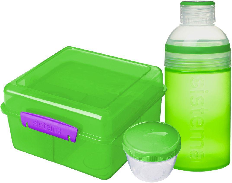 Набор Sistema Lunch: ланчбокс 2 л, бутылка 480 мл. 41580VT-1520(SR)Особенности линейки: Предназначены для людей с активным образом жизни, для тех кто все успевает.Оригинальный дизайн и многообразие цветов.Оригинальная система клапана для закрытия различные емкости контейнеров.Надежность закрытия контейнера.Материал контейнера свободный от фенола и других вредных примесей.В наличии одиночные контейнеры и наборы.Серия контейнеров и бутылок по принципу возьми с собой. SISTEMA To Go