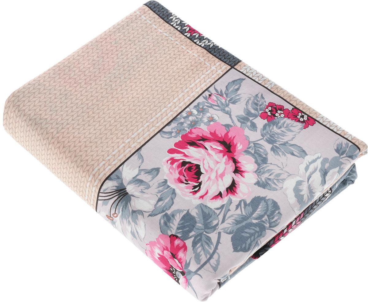 Комплект белья Amore Mio Dady, 2-спальный, наволочки 70x70, цвет: серый, бежевый, розовый комплект белья 3d amore mio et rosa 1 5 спальный наволочки 70х70 цвет белый красный розовый 74865