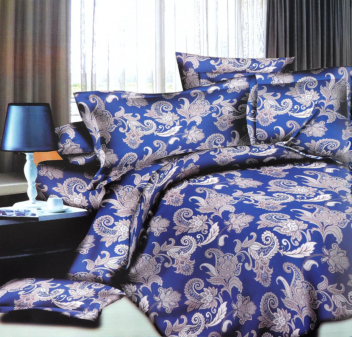 Комплект белья ЭГО Узор, 1,5-спальный, наволочки 70x70FA-5125 WhiteКомплект постельного белья ЭГО Узор выполнен из полисатина (50% хлопка, 50% полиэстера). Комплект состоит из пододеяльника, простыни и двух наволочек. Постельное белье, оформленное оригинальным принтом, имеет изысканный внешний вид и яркую цветовую гамму. Наволочки застегиваются на клапаны. Гладкая структура делает ткань приятной на ощупь, мягкой и нежной, при этом она прочная и хорошо сохраняет форму. Ткань легко гладится, не линяет и не садится. Благодаря такому комплекту постельного белья вы сможете создать атмосферу роскоши и романтики в вашей спальне.