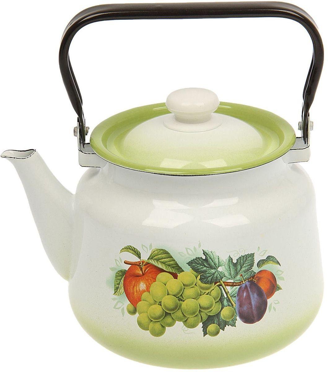 Чайник эмалированный Epos Дары лета, 3,5 лVT-1520(SR)Чайник Epos Дары лета выполнен из высококачественной стали с эмалированным покрытием. Поверхность чайникагладкая, что облегчает уход за ним. Большой объемпозволит приготовить напиток для всей семьи илинебольшой компании. Эстетичный и функциональный чайник будеторигинально смотреться в любом интерьере. Душевная атмосфера и со вкусом накрытый стол всегда будут собирать в вашем доме близких и друзей.Чайник подходит для использования на всех типах плит,включая индукционные. Объем: 3,5 л.