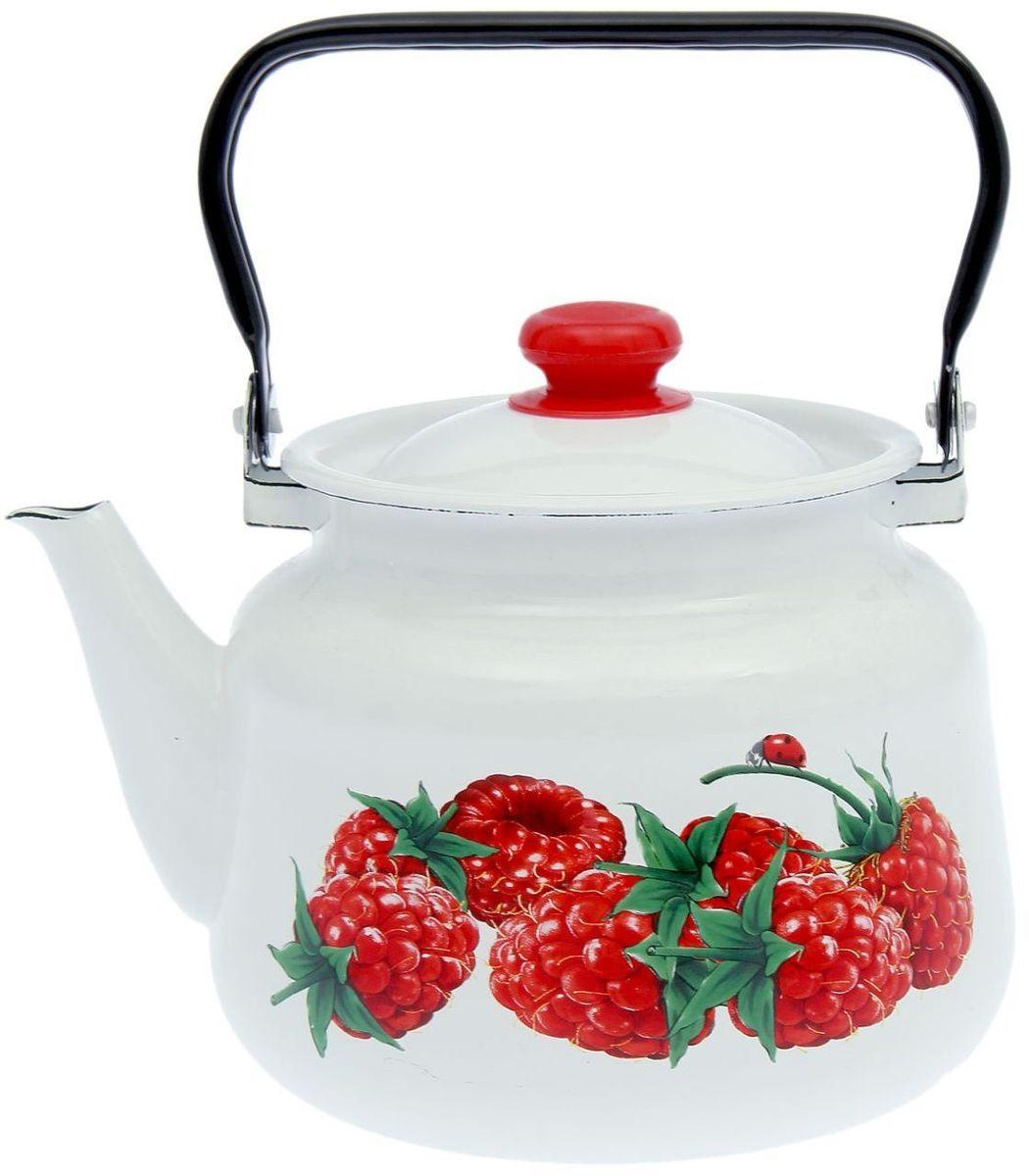 Чайник эмалированный Epos Малина, 3,5 л115510Чайник Epos Малина выполнен из высококачественной стали с эмалированным покрытием. Поверхность чайникагладкая, что облегчает уход за ним. Большой объемпозволит приготовить напиток для всей семьи илинебольшой компании. Эстетичный и функциональный чайник будеторигинально смотреться в любом интерьере. Душевная атмосфера и со вкусом накрытый стол всегда будут собирать в вашем доме близких и друзей.Чайник подходит для использования на всех типах плит,включая индукционные. Объем: 3,5 л.