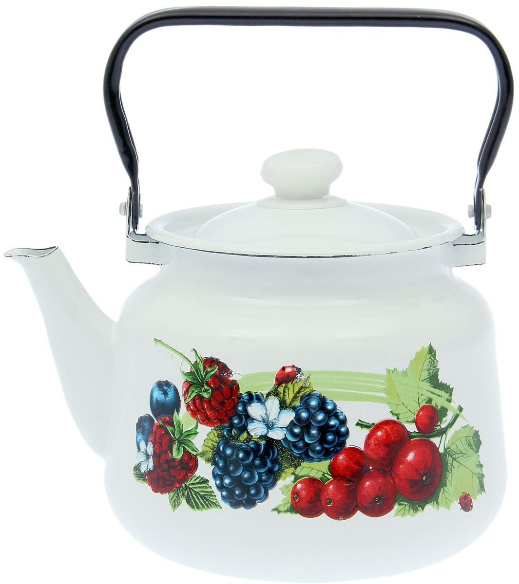 Чайник эмалированный Epos Смузи, 3,5 л115510Чайник Epos Смузи выполнен из высококачественной стали с эмалированным покрытием. Поверхность чайникагладкая, что облегчает уход за ним. Большой объемпозволит приготовить напиток для всей семьи илинебольшой компании. Эстетичный и функциональный чайник будеторигинально смотреться в любом интерьере. Душевная атмосфера и со вкусом накрытый стол всегда будут собирать в вашем доме близких и друзей.Чайник подходит для использования на всех типах плит,включая индукционные. Объем: 3,5 л.