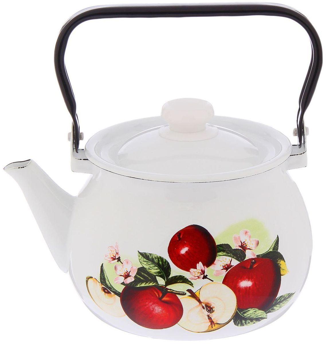 Чайник эмалированный Epos Ароматный, 2 л115510Чайник Epos Ароматный выполнен из высококачественной стали с эмалированным покрытием. Поверхность чайникагладкая, что облегчает уход за ним. Большой объемпозволит приготовить напиток для всей семьи илинебольшой компании. Эстетичный и функциональный чайник будеторигинально смотреться в любом интерьере. Душевная атмосфера и со вкусом накрытый стол всегда будут собирать в вашем доме близких и друзей.Чайник подходит для использования на всех типах плит,включая индукционные. Объем: 2 л.