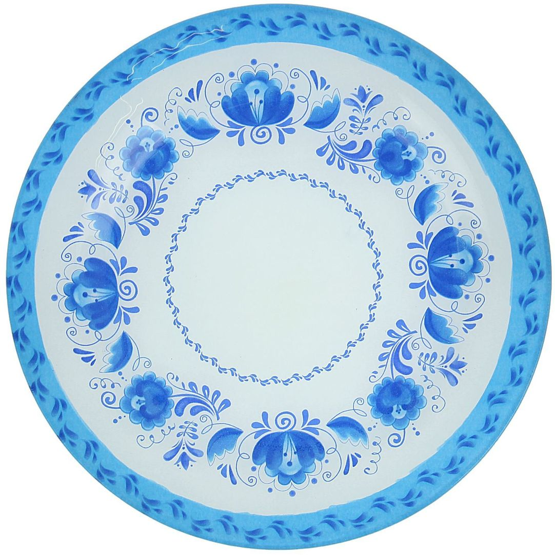 Тарелка Доляна Гжель, диаметр 22 смVT-1520(SR)Тарелка Доляна с природными мотивами в оформлении разнообразит интерьер кухни и сделает застолье самобытным и запоминающимся. Качественное стекло не впитывает запахов, гладкая поверхность обеспечивает легкость мытья.Рекомендуется избегать использования абразивных моющих средств.Делайте любимый дом уютнее!