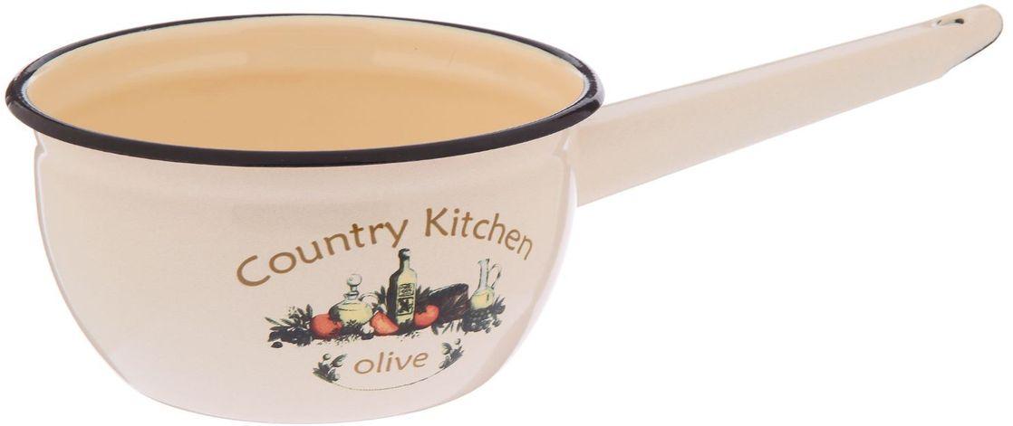 Ковш Epos Olive, с эмалированным покрытием, 1,5 л54 009312Ковш Epos Olive изготовлен из высококачественной стали с эмалированным покрытием.Пища не пригорает и не прилипает к стенкам и дну посуды. На ручке предусмотрено отверстие для подвешивания.От хорошей кухонной утвари зависит половина успеха аппетитного блюда. Чтобы еда была вкусной, важно ее правильно приготовить и сервировать. Вся посуда бренда Epos изготовлена из проверенных материалов, безопасна в использовании, будет долго радовать вас своим внешним видом и высоким качеством. Объем: 1,5 л.