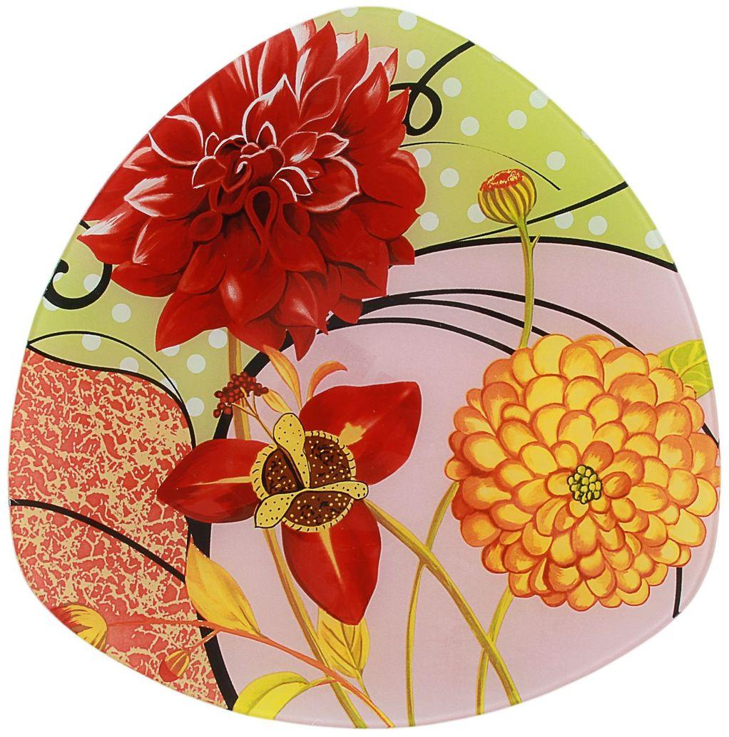 Тарелка Доляна Великолепие, диаметр 25 см115510Тарелка Доляна с природными мотивами в оформлении разнообразит интерьер кухни и сделает застолье самобытным и запоминающимся. Качественное стекло не впитывает запахов, гладкая поверхность обеспечивает легкость мытья.Рекомендуется избегать использования абразивных моющих средств.Делайте любимый дом уютнее!