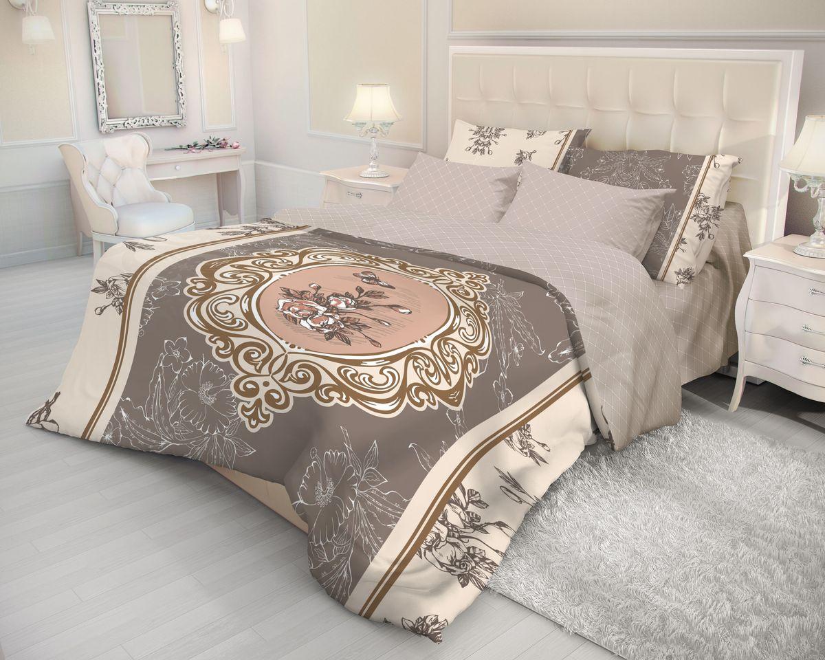 Комплект белья Волшебная ночь Barocco, 2-спальный, наволочки 50х70, цвет: терракотовый, темно-серый, темно-бежевый391602Роскошный комплект постельного белья Волшебная ночь Barocco выполнен из натурального ранфорса (100% хлопка) и оформлен оригинальным рисунком. Комплект состоит из пододеяльника, простыни и двух наволочек. Ранфорс - это новая современная гипоаллергенная ткань из натуральных хлопковых волокон, которая прекрасно впитывает влагу, очень проста в уходе, а за счет высокой прочности способна выдерживать большое количество стирок. Высочайшее качество материала гарантирует безопасность.