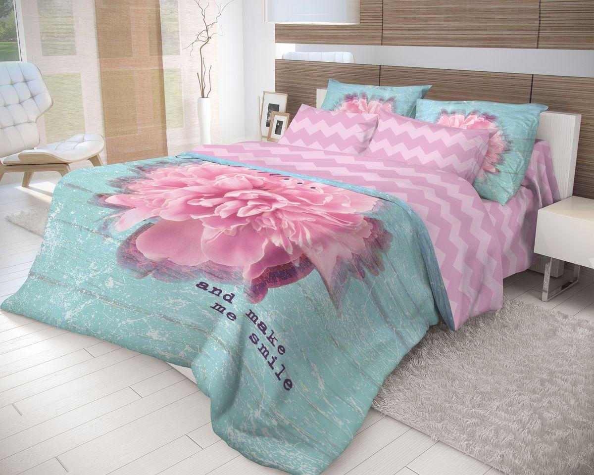 Комплект белья Волшебная ночь Bloom, 2-спальный с простыней евро, наволочки 70х70, цвет: бирюзовый, малиновый. 70428810503Роскошный комплект постельного белья Волшебная ночь Bloom выполнен из натурального ранфорса (100% хлопка) и оформлен оригинальным рисунком. Комплект состоит из пододеяльника, простыни и двух наволочек. Ранфорс - это новая современная гипоаллергенная ткань из натуральных хлопковых волокон, которая прекрасно впитывает влагу, очень проста в уходе, а за счет высокой прочности способна выдерживать большое количество стирок. Высочайшее качество материала гарантирует безопасность.