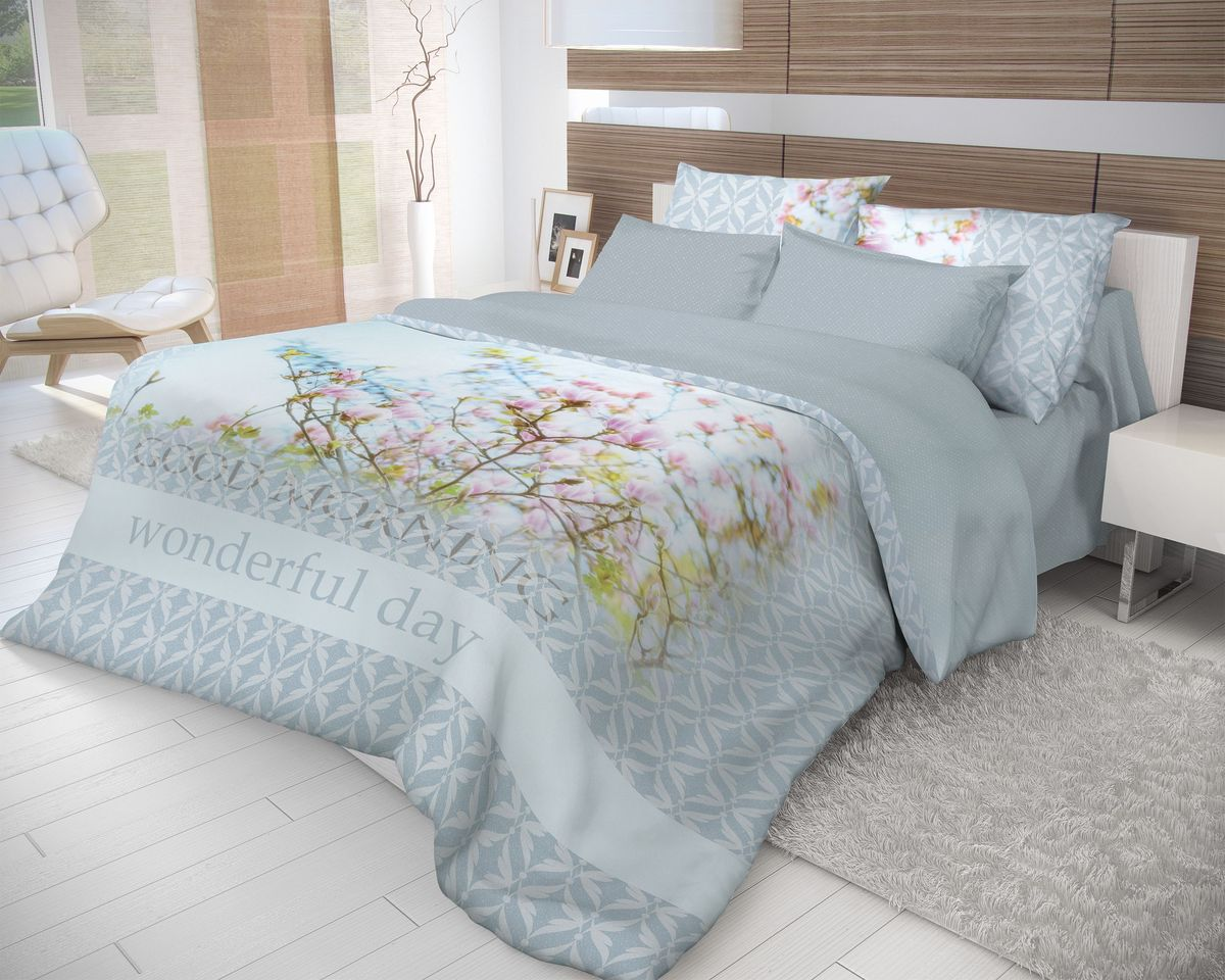 Комплект белья Волшебная ночь Morning, 1,5-спальный, наволочки 50х7010503Роскошный комплект постельного белья Волшебная ночь Morning выполнен из натурального ранфорса (100% хлопка) и оформлен оригинальным рисунком. Комплект состоит из пододеяльника, простыни и двух наволочек. Ранфорс - это новая современная гипоаллергенная ткань из натуральных хлопковых волокон, которая прекрасно впитывает влагу, очень проста в уходе, а за счет высокой прочности способна выдерживать большое количество стирок. Высочайшее качество материала гарантирует безопасность.