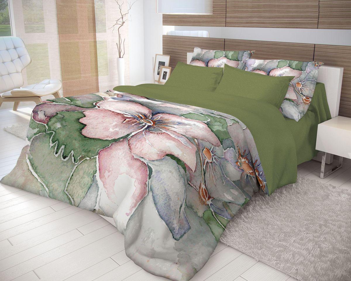 Комплект белья Волшебная ночь Humming, евро, наволочки 70х70, цвет: темно-зеленый, серо-голубой, светло-коралловый391602Роскошный комплект постельного белья Волшебная ночь Humming выполнен из натурального ранфорса (100% хлопка) и оформлен оригинальным рисунком. Комплект состоит из пододеяльника, простыни и двух наволочек. Ранфорс - это новая современная гипоаллергенная ткань из натуральных хлопковых волокон, которая прекрасно впитывает влагу, очень проста в уходе, а за счет высокой прочности способна выдерживать большое количество стирок. Высочайшее качество материала гарантирует безопасность.